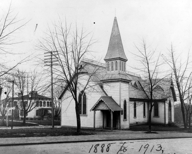 Mount Tabor Methodist Protestant Church, as it appeared between 1888 and 1913.