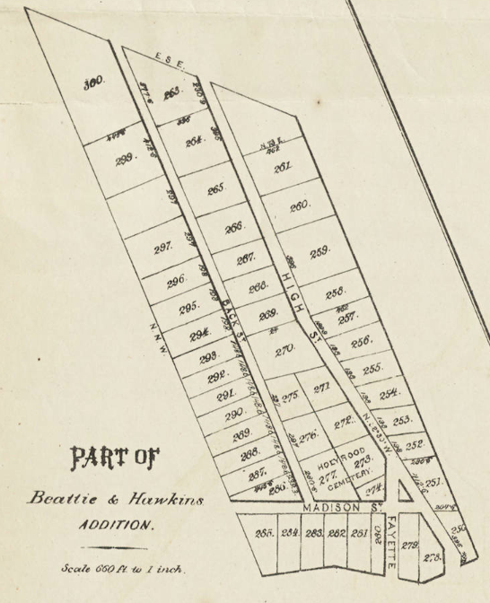 (Real Estate Directory of the City of Washington, D.C., Suburbs of Washington City, Serial Number 50, 1874, plate 1, DC Public Library)
