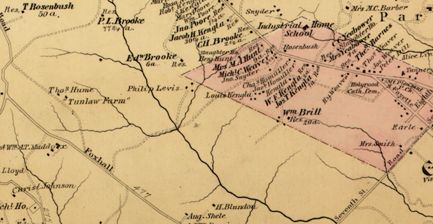 Hopkins, Atlas of Washington D.C., 1879, detail.