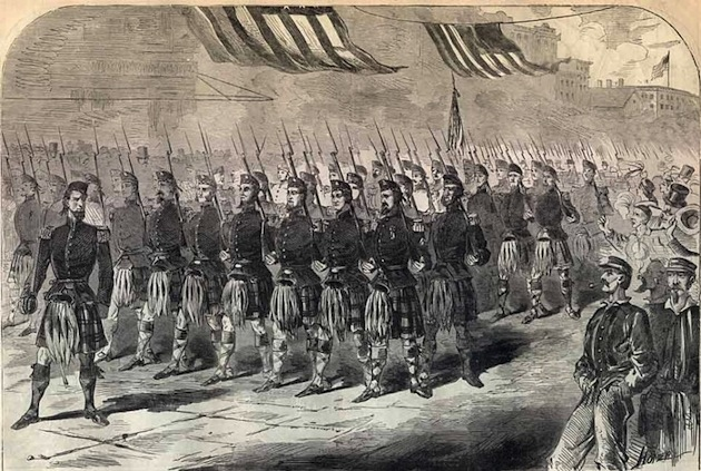 The Seventy-Ninth Regiment (Highlanders), New York State Militia (Harper's Weekly, May 25, 1861)