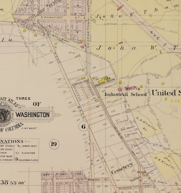 Baist's Real Estate Atlas, 1903, Plate 18 (detail, with thanks to Ghosts of DC).