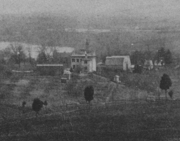 Burleith, 1864. (Detail of a view of the Signal Camp of Instruction, Red Hill, Georgetown D.C., Carlisle Military Institute)
