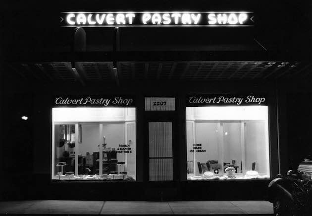 The Calvert Pastry Shop, 2207 Wisconsin Avenue, circa 1938. (Courtesy of a descendant)