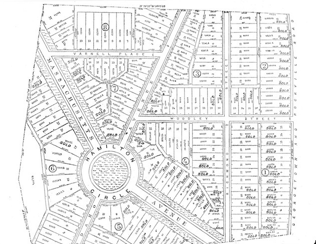 """Fairview Heights Subdivision of Parts of Scott's Ordinary, Terra Firma and Alliance Tracts, by John E. Beall"" (Washington Post, April 27, 1890, p.3)"