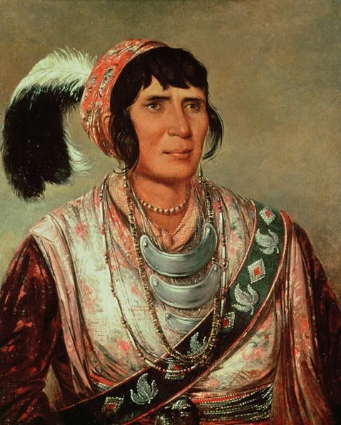 Osceola, or Billy Powell (1804–1838), war leader of the Seminole Indians. (George Catlin, National Portrait Gallery)