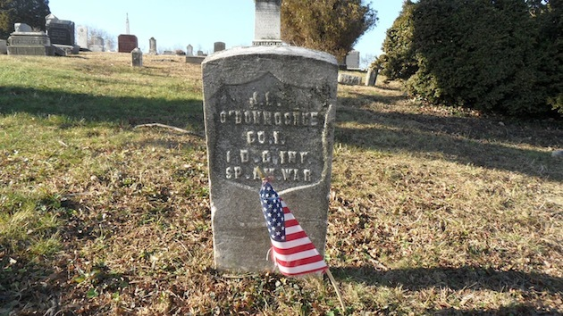 Private J.L. O'Donoghue, 1st District of Columbia Infantry, Spanish-American War  (section 40; photo courtesy of Randy Walsh)