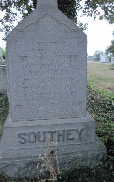 John J. Southey, Georgetown GAR, Born 1841, Canterbury, England, died April 1, 1916 (section 41)