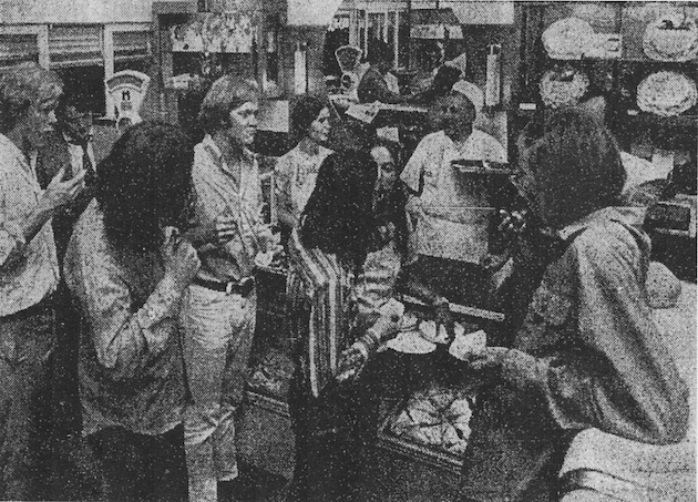 """Neuland sells baked goods to night people."" (""August Neuland Feeds Flocks of Wisconsin Avenue's Night Owls"", Washington Post Times Herald, July 29, 1971, p.D3)"
