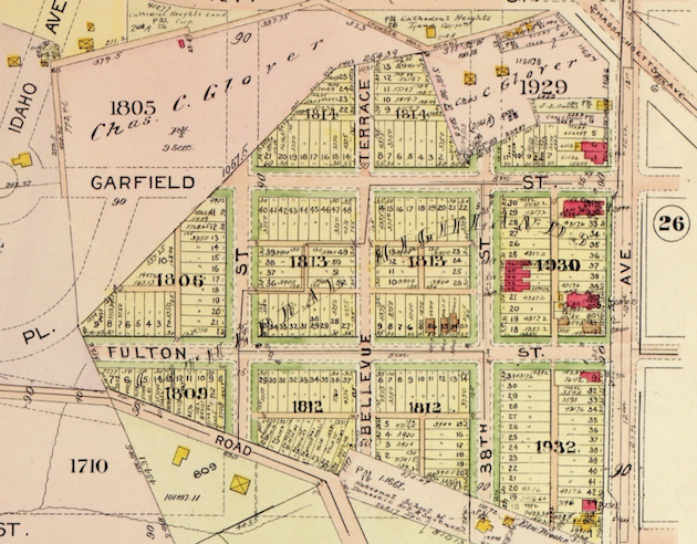 Baist's Real Estate Atlas of Washington D.C., 1921, Plate 24, detail. (With thanks to Ghosts of DC)