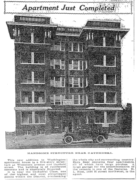 2844 Wisconsin, replaced in 1964 by Garfield House. (Washington Post, August 5, 1817, p.R4)