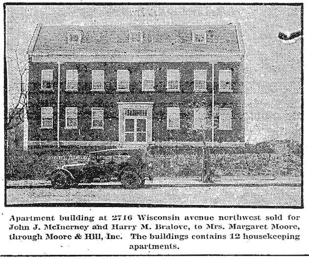 2716 Wisconsin, built in 1924. (Washington Post, April 27, 1924, p.R6)