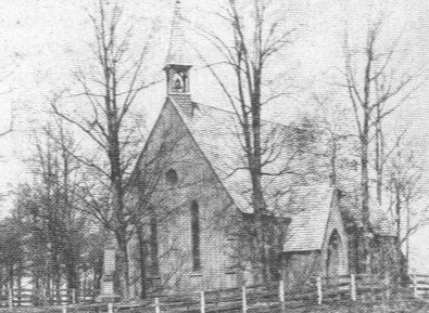 St. Alban's Church, as it appeared between 1854 and 1914.