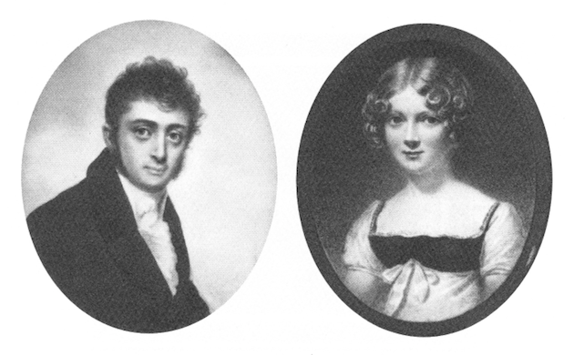 Charles Josephus Nourse and Rebecca Wistar Morris Nourse. (Collection of Edith Stenhouse Bingham)
