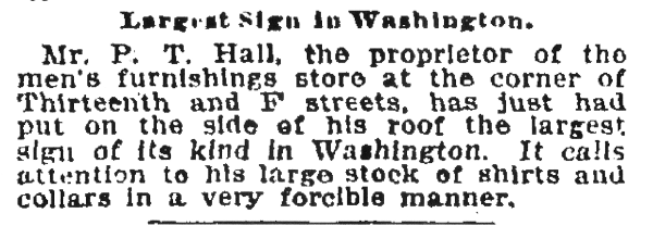 (Washington Post, April 1, 1899, p.3)