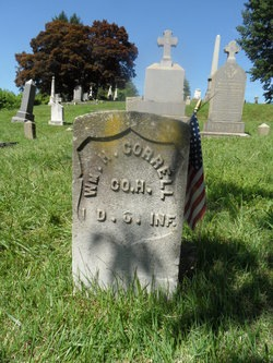 Private William H. Correll, Company H, 1st District of Columbia Infantry, died 1906 (section 52; photo courtesy of Randy Walsh)