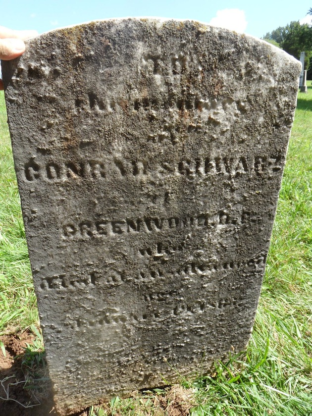 Private Conrad Schwarz, District of Columbia Militia, War of 1812 (section 9; Photograph courtesy of Randy Walsh)