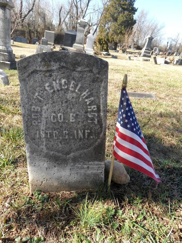 Robert Engelhardt, Company E, 1st DC Infantry  (photo courtesy of Randy Walsh)