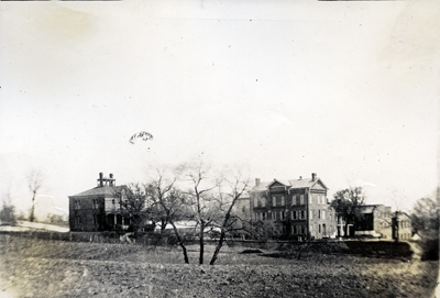 The Industrial Home School, seen from the north, showing the Superintendant's House, or the Girls' Cottage, taken between 1895-1905. (Historical Society of Washington)