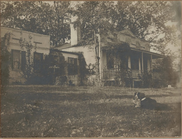 In 1886 the country house called Weston stood more or less in the path of the proposed extension of Massachusetts Avenue. (Photo courtesy of a descendant)