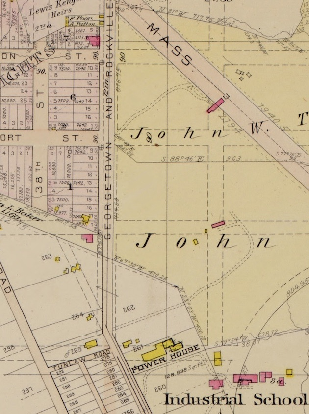 Greenwood.  (Baist's Real Estate Atlas, 1903, Plate 18 [detail, with thanks to Ghosts of DC]).