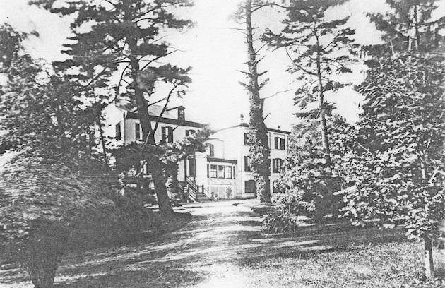 View of The Cedars from the north, circa 1880. (Courtesy of a descendant.)