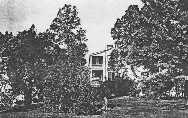View of The Cedars from the east, circa 1880. (Courtesy of a descendant.)