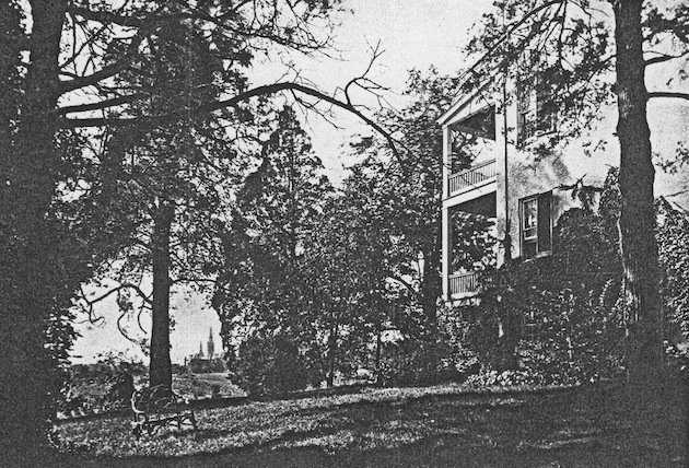 Healy Hall, Georgetown University, seen from The Cedars, circa 1880. (Courtesy of a descendant.)