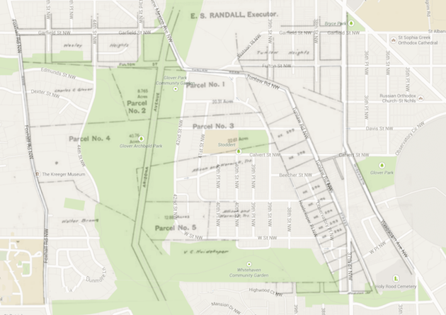 (Kengla estate map overlaid on Google maps by Robert J. Carlson.)