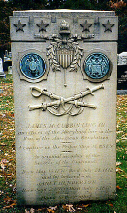 Lingan's grave in Arlington Cemetery