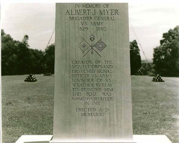 Albert j myer glover park history on the heights overlooking washington a plain stone memorial records the achievements of albert j myer civilwarsignals publicscrutiny Image collections