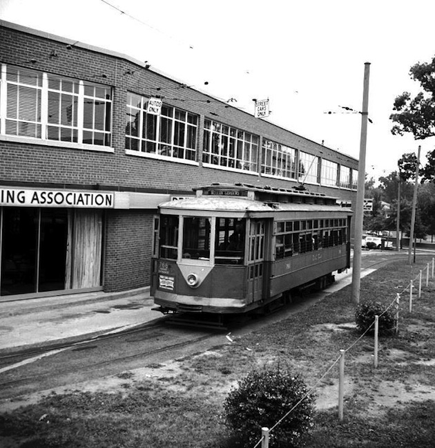 McLean Gardens streetcar loop, south of Newark Street, before 1960. (Old Time DC)