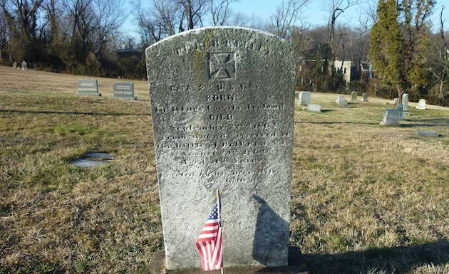 Private Peter Kelley, Co. A, 2nd U.S. Infantry, died of wounds received at Bull Run, 1862  (section 18; photo courtesy of Randy Walsh)