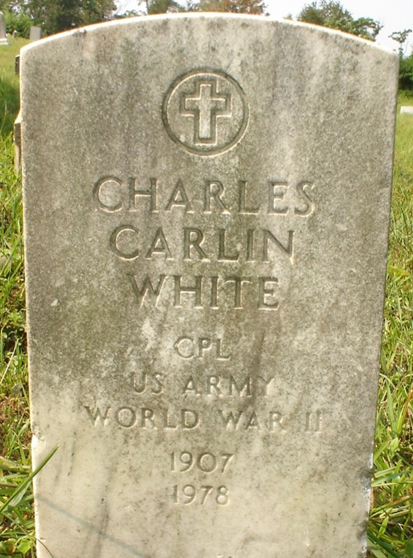 Corporal Charles Carlin White, U.S. Army, World War II, 1907-1978  (section 37)